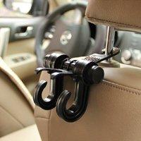 Wholesale hook for purse hanger resale online - 1PCS New Double For Grocery Back Car Purse Cloth Seat Automobile Holder Bag Clips Headrest Car Hook Hooks Seat Hanger