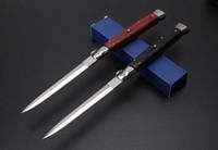 bıçaklar toptan satış-Kaliteli 13 Inç İtalyan AB Mafia Stiletto Yatay Taktik Katlanır Bıçak 440C Blade Kamp Avcılık Survival oto Bıçaklar C81 EDC Çok