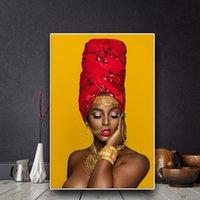 группа обнаженная женщина оптовых-1 панель сексуальные губы обнаженная африканская женщина искусства картина маслом на холсте Куадрос плакаты и принты настенное изображение без рамы