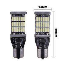luz t15 al por mayor-Envío de DHL Súper Brillante T15 W16W 921 45 SMD LED 4014 Lámparas de Marcador Canbus para Automóvil de Coche Luz de Lectura Bombilla de Iluminación Interior