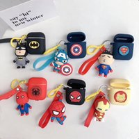 Wholesale 3d batman case cover online – custom Airpods Case D Cute Cool Spiderman IronMan Batman Superman Soft Silicone Character Wireless Earphone Charging Cover for Apple AirPods