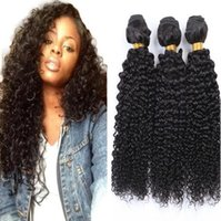 Wholesale 8a grade european human hair extensions resale online - Grade a Brazilian Virgin Hair Bundles Malaysian Indian Peruvian Kinky Curly Human Hair Extensions Bundles Afro curly