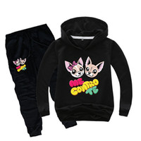 Wholesale cute baby sports clothes resale online - DLF Y Cute Me Contro Te Hoodies Pants Sets Baby Boys Clothing Set Teenagers Girls Sport Suit Children Fashion Tracksuit