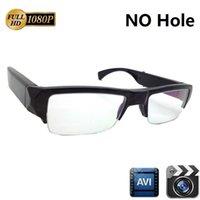 gafas de sol al por mayor-Full HD 1080P Gafas mini cámara 5MP SIN gafas Agujero Grabadora de video Audio Videocámara Gafas de sol Cámara Mini DV DVR