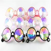 çocuklar parti güneş gözlüğü toptan satış-Kaleidoscope Güneş Gözlüğü Çocuklar Retro Geometrik Gökkuşağı Lens Sunglass Erkek Kadın Fantezi Gözlük Moda Şenlikli Parti Gözlük 6 stilleri GGA2206