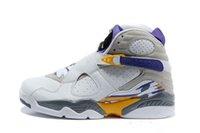 nefes alabilen açık basketbol ayakkabısı toptan satış-Yeni tasarımcı açık spor ayakkabı Erkekler siyah beyaz 8 s Playoff Nefes Nefes Ayakkabı Hafif Eğitim Atletizm Sneakers