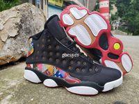 sapatas de basquetebol chinesas novas venda por atacado-2019 13 CNY 13s retro Ano Novo Chinês Mens tênis de basquete Jumpman Designer Sneakers Black Red Formadores cestas des Chaussures Hommes