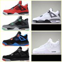 nefes alabilen açık basketbol ayakkabısı toptan satış-JN004t2b sıcak satış ucuz Erkek Kadın Spor açık havada ayakkabı 4 Retro Yüksek MID OG 4 S J Lüks tasarımcı basketbol Sneakers Resmi Nefes