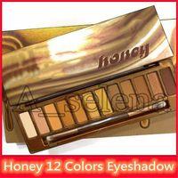 yüksek kaliteli göz farı paleti toptan satış-Ünlü Bal Göz Farı Paleti 12 renk Göz Farı Maquillage çıplak paleti 2019 nk bal Yüksek kaliteli palet seti