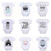 macacões de roupas de bebê venda por atacado-Bebê Sólida Triângulo Romper 45 Design Carta Dos Desenhos Animados Impresso Sólidos Macacão Single-Breasted Crianças Designer Meninas Meninos Outfits 3-18 M 04