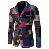 New Arrival Flower Blazer Man New Suit Jacket Autumn Casual Male Single Breasted High Quality Suit Size 7.24