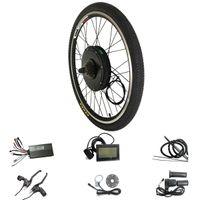 26 bisiklet tekerleği toptan satış-48 V 1500 W LCD Ekran Elektrikli eBike Kiti 20 24 26 700C için 28 29 inç Arka Bisiklet Tekerlek Motor Elektrikli Bisiklet Dönüşüm Kiti