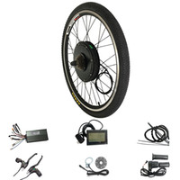 Wholesale motor bicycle kits for sale - Group buy 48V W LCD Display Electric eBike Kit for C inch Rear Bicycle Wheel Motor Electric Bike Conversion Kit
