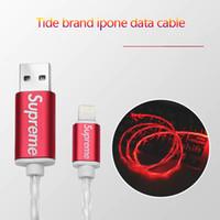 câble de ligne lumineuse achat en gros de-100CM 3ft Téléphone USB Streamer Data Line vente chaude Flowing LED Light USB Câble de charge Câble