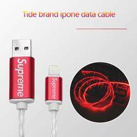 lichtleitungskabel großhandel-100CM 3ft Telefon USB Streamer-Datenleitung heißer Verkauf fließende LED-Licht USB-Ladekabel für Telefon 8