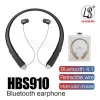 infinim lg bluetooth großhandel-HBS910 TONE INFINIM Upgrade Version HBS900 Wireless HBS 910 Kragen-Headset Bluetooth 4.1 HBS910 Sportkopfhörer mit hartem Kleinpaket