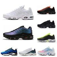 дизайнер обуви краска оптовых-дизайнер TN Plus кроссовок для мужских тройного черного белого малинового Volt Spray Paint Яркого мужских кроссовок Тренажёров Спорт бегун 40-45