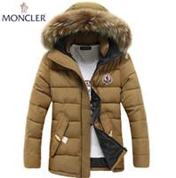 ingrosso cappotto di giacca a tuta-2019 nuova moda inverno giacca di piumino corno trench cappotto caldo cappotto uomo cappotto cappotto degli uomini wadded cappotto