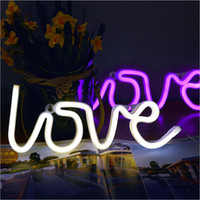 signos de navidad al por mayor-Led Neon Light string Sign Romantic 3D led Luz de noche Letter light Holiday Xmas Party Wedding Decorations Romantic Table Lámparas
