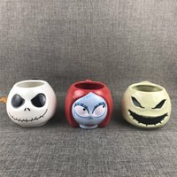 Wholesale christmas gift mugs for sale - Group buy The Nightmare Before Christmas Jack Skellington Sally Oogie Boogie Large Capacity Ceramic Water Cup Coffee Mug Collection Gifts