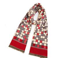 nachahmungsschals großhandel-Frau Retro ethnischen Stil Schals Mode lange warme feine Schal Pashmina Imitation Cashmere Plaid Lady Travel Schal TTA1673