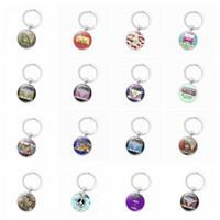 Wholesale bus keychain resale online - Vintage Van Bus Keychain Fashion Men Women Hippie Peace Sign Purse Bag Car Pendant Key Chain Ring Holder AAA1727