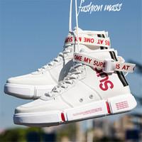 chaussures de loisirs chaussures achat en gros de-PU Casual Skate Sneakers Corée Ulzzang Chaussures -50% sur les chaussures robustes anti-dérapantes Hommes Faux Cuir Patineur Chaussures De Conseil De Mode