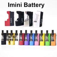 миниатюрная батарея vape оптовых-Imini мод для толстого масляного картриджа 500 мАч vape Mods 510 нить Батарея Bho Oil Wax Atomizer Vape Pen батареи подходят бутон мини картомайзер
