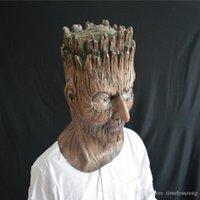 ingrosso maschera albero-Halloween cuffie albero orrore maschera demone ballo di travestimento di thriller guardie partito puntelli lattice maschera DH12
