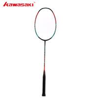 ingrosso dono gratuito kawasaki-Kawasaki Badminton 3U alta rigidità in fibra di carbonio 666 annuncio Badminton racchetta alta tensione G5 racchetta da tennis con regalo gratuito