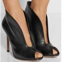 nouvelles photos de talons achat en gros de-Kolnoo New Real-photos Femmes Talon Haut Escarpins Col En V Peep-Toe Robe Habillées Carrière Bureau Mode Stiletto Soirée Chaussures D183