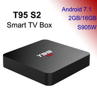 Wholesale t95 android box 2gb resale online - T95 S2 Android TV Box G G Amlogic S905W Quad Core D K Streaming Meida Player G Wifi Android7 Smart Boxes TVBox GB GB Set Top Box