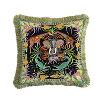 Wholesale handmade chairs for sale - Group buy Luxury Velvet Tassel Cushion Cover Soft Double Printed Pillow Cover Pillowcase Home Decorative Sofa Throw Pillows Chair x45cm
