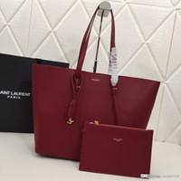 черный красный мешок totes оптовых-S8 high-end модная большая сумка для покупок кожаная большая сумка черный серый бордовый красный номер для матери и ребенка: 1860. s8