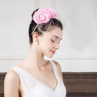 Wholesale wedding fedoras resale online - New Spring and Summer Wedding Hat Female British Party Hat Girls Make Up Party Headdress and Banquet Hoop Fedoras Cap B