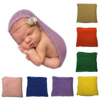Wholesale infant toddler photo props resale online - Baby Mohair Wrap Baby Photo Wrap Solid Color Infant Toddler Photo Swaddling Blankets Newborn Photography Props cm