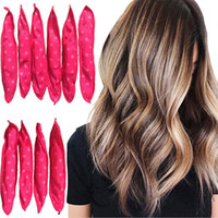 Wholesale sleep hair curlers resale online - Hair Curlers Soft Magic Hair Care Curlers Rollers Night Sleep Rabbit Butterfly Knot Hair Rollers Curlers Styling Tools
