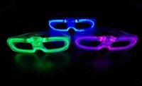 ingrosso vendita diretta illuminazione-Occhiali luminosi 120pcs / lot moda fredda luce glint occhiali di plastica LED Light Up Flash Partito Occhiali vendita diretta in fabbrica