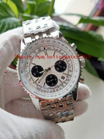 Wholesale watches navitimer resale online - 2 Color luxury Mens Watches Best Quality Watch mm Navitimer AB0310211G1A1 Chronograph Working quartz fold stainless steel