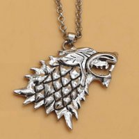 Wholesale fedex games for free for sale - Group buy Stark Wolf Necklace Game of Thrones TV Play Song of Ice and Fire Pendant Jewelry for Christmas Gift Free TNT Fedex