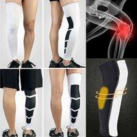 ingrosso calzini coscia uomini-2019 Moda Semplicemente Fitness Calze a compressione alla caviglia Calze alte per il ginocchio Calze sportive a coscia per gambe Calze sportive per uomo all'aperto Donna