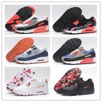Wholesale free run woven women resale online - New Running Shoes Air Cushion KPU Men Women High Quality Sneakers Cheap All black Sports Shoes Size