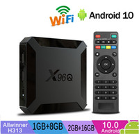Wholesale tv box android skype google resale online - X96Q Allwinner H313 Android TV Boxes GB GB WiFi G Quad Core Caja de tv android Smart TV PK TX3 X96