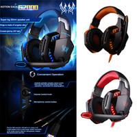 juegos virtuales al por mayor-Moda de sonido envolvente de alta fidelidad estéreo de auriculares Pro Gaming con HD Mic para PS4 XBOX Juegos PC Computadoras juego virtual de sonido Gamer