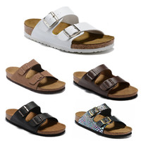 Wholesale casual sandals yellow color for sale - Group buy 2019 Arizona New Summer Beach Cork Slipper Flip Flops Sandals Women Mixed Color Casual Slides Shoes Flat Slipper EUR