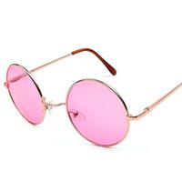 b8b998370b2 2018 New Retro Round Sunglasses Women Brand Designer Hippy 60S Lennon  Vintage Sun Glasses De Sol Gafas lunette