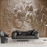 3d sex mädchen großhandel-Große Fototapete 3D Stereo Relief Mode Tapeten für Wände Kunst Dekor Wandbild 3D Wandbild Sex Girl dekorative Bild