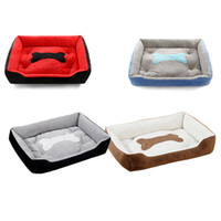 hot dog fleece großhandel-2019 Hot Cuboid Nest Solide Super Große Weiche Fleece Wasserdichte Haustiere Hund Katze Betten Korb Nest Matte