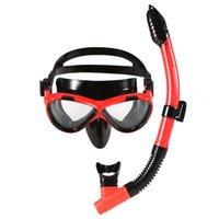 óculos de mergulho venda por atacado-Lixada para Crianças Máscara de Mergulho Tubo de Mergulho Snorkeling Máscara Óculos Óculos de Mergulho Natação Fácil Respiração Snorkel Seco adulto