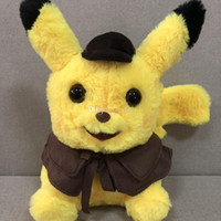 Wholesale video games sell resale online - Best selling Detective Pikachu Plush dolls cm Pikachu plush toys cartoon Stuffed animals toys soft best Gifts